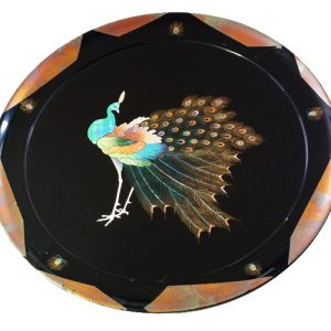 飾り皿 孔雀