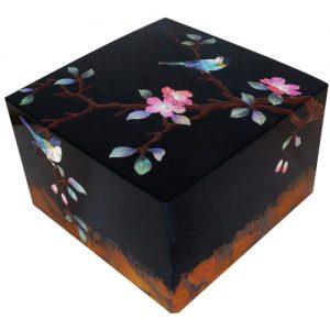 螺鈿飾箱 花鳥図