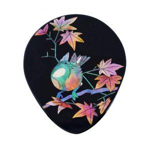 四十雀に紅葉 姫鏡