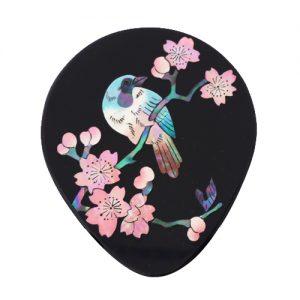 かし鳥に桜 姫鏡
