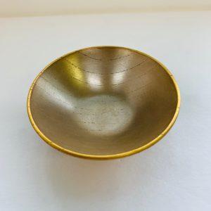 摺り漆銀盃(縁金有り)